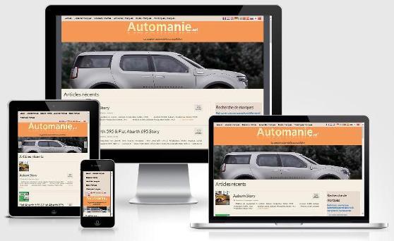 site responsive créé avec WordPress pour Automania (Brabant wallon)