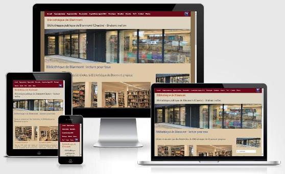 Site responsive créé avec WordPress pour la Bibliothèque de Blanmont (Brabant wallon)