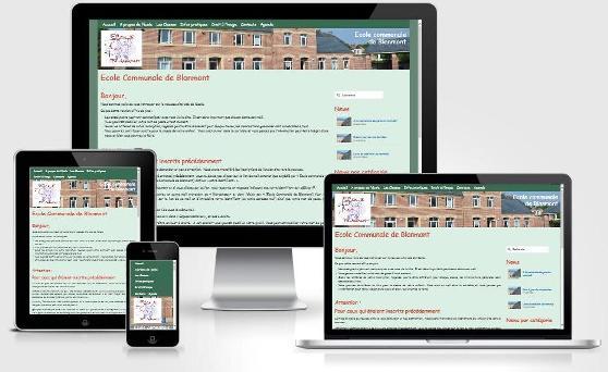 Site responsive créé avec WordPress pour l'Ecole communale de Blanmont (Brabant wallon)