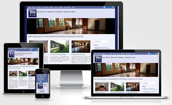 Site responsive créé avec WordPress pour la Salle Patria (Brabant wallon)