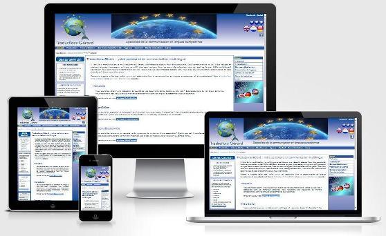 Site responsive créé sur mesure pour Traductions Gérard (Brabant wallon)