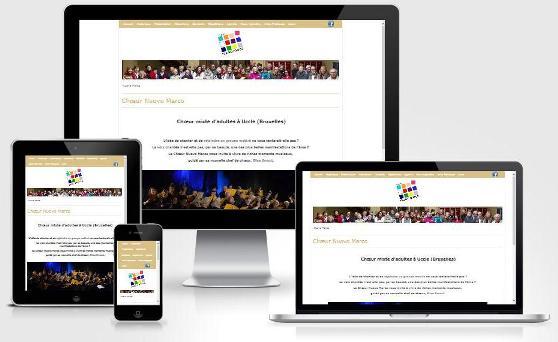 Site responsive créé avec WordPress pour Nuovo Marco (Bruxelles)