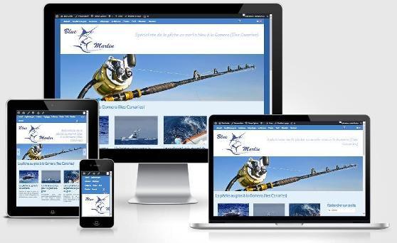 Site responsive créé avec WordPress pour Blue Marlin