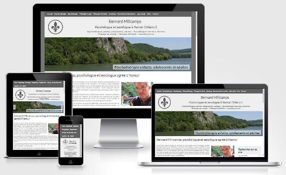 Site responsive créé avec WordPress pour Bernard Milicamps (Namur)