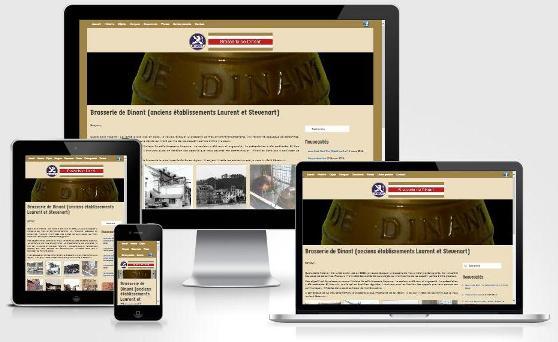Site responsive créé avec WordPress pour la Brasserie de Dinant (Province de Namur)