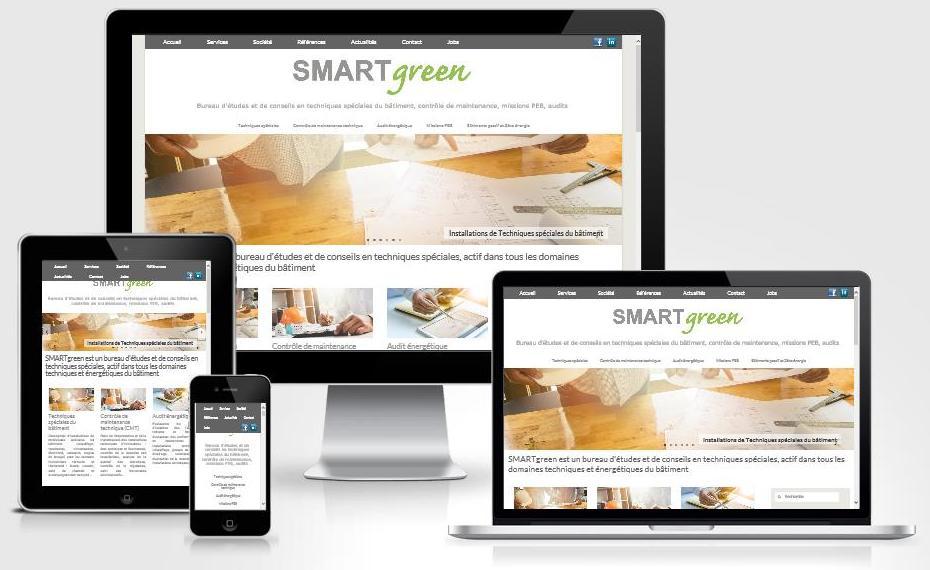 Site responsive créé avec WordPress pour SMARTgreen
