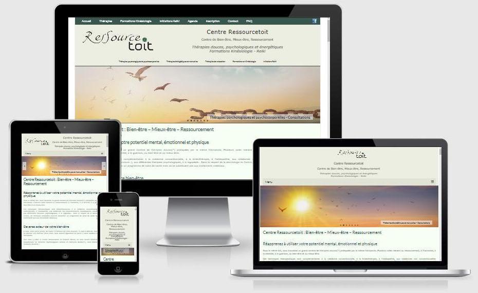 Site responsive du Centre Ressourcetoit (Brabant wallon)