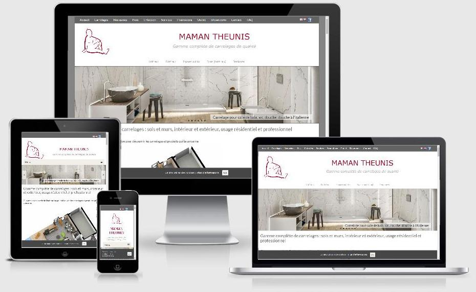 Site responsive des Carrelages Maman Theunis